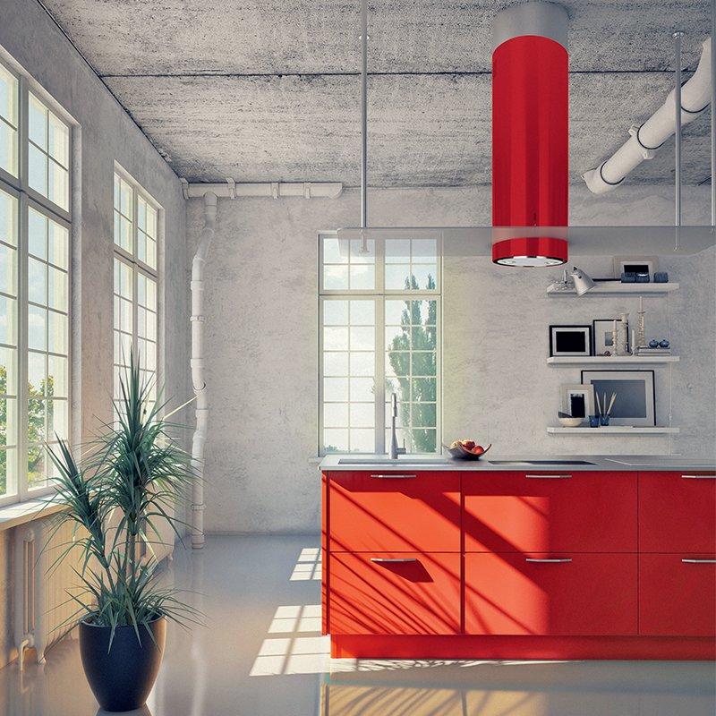 Okap kuchenny GLOBALO Cylindro Isola 39.3 Eko Max red