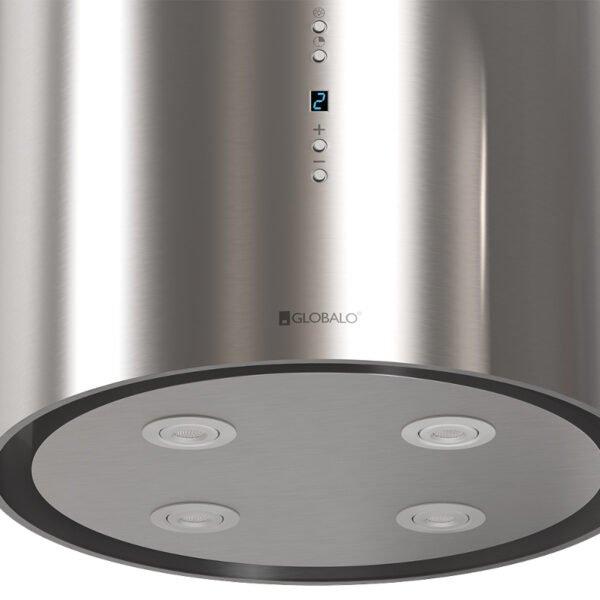 Okap kuchenny GLOBALO Cylindro Isola 39.3 Inox