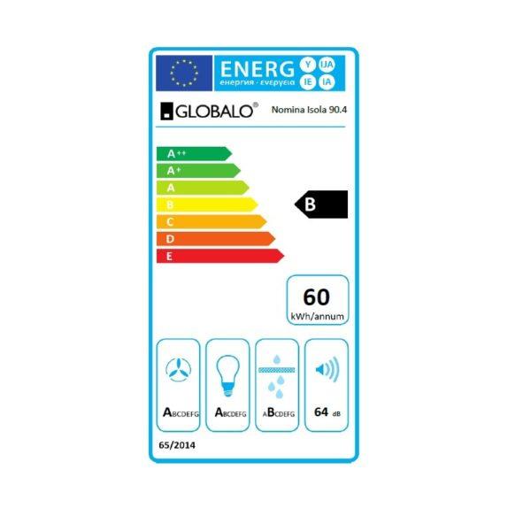 Okap kuchenny GLOBALO Nomina Isola 90.4 Sensor etykieta