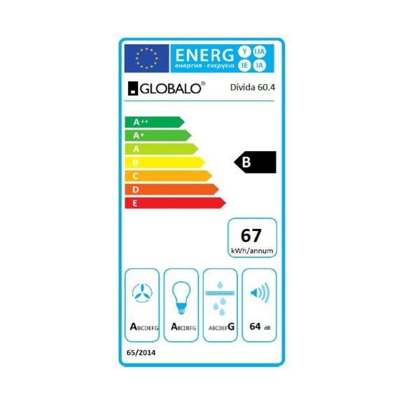 Okap kuchenny GLOBALO Divida 60.4 Sensor etykieta