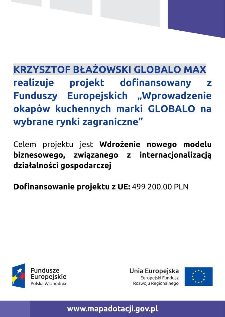 Projekt współfinansowany z Programu Regionalnego Funduszy Europejskich