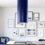 Okap kuchenny Cylindro Isola 39.4 Blue