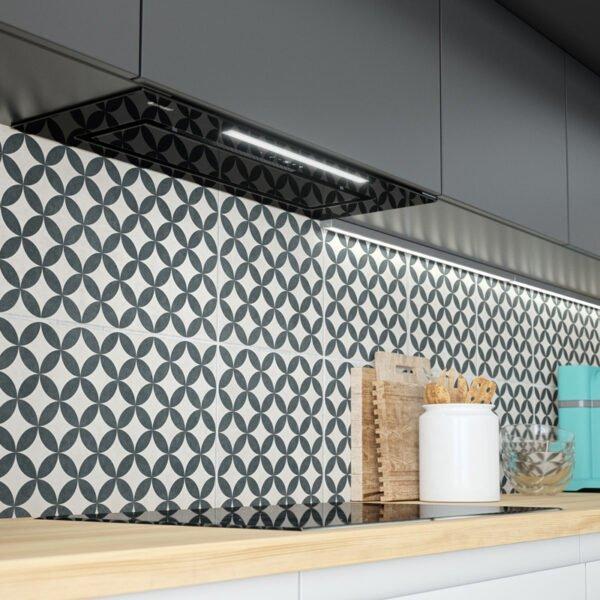 Okap kuchenny do zabudowy globalo loteo 80.4 black