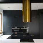 gold cooker hood złoty okap globalo