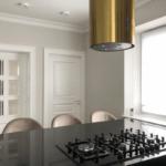 złoty okap do kuchni