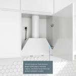 Okap do zabudowy GLOBALO Spedtero 60 White schemat montażu zawiasy