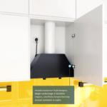 Okap do zabudowy GLOBALO FLOWERI 60 Black schemat montażu zawiasy