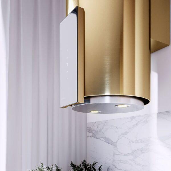Okap Przyscienny Globalo Roxano 39.1 Light Gold