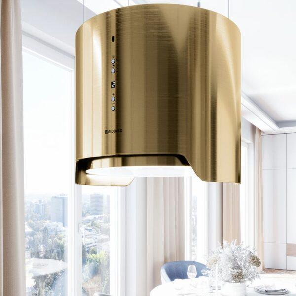 Okap Wyspowy GLOBALO Arenoflow 39 Light Gold